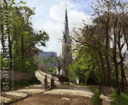 St. Stephen's Church, Lower Norwood by Camille Pissarro - Reproduction Oil Painting
