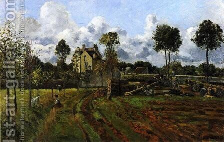 Landscape at Pontoise III by Camille Pissarro - Reproduction Oil Painting