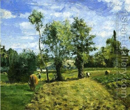Spring Morning, Pontoise by Camille Pissarro - Reproduction Oil Painting