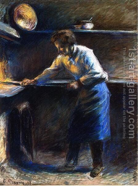 Eugene Murer at His Pastry Oven by Camille Pissarro - Reproduction Oil Painting
