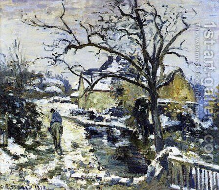 Winter at Montfoucault I by Camille Pissarro - Reproduction Oil Painting