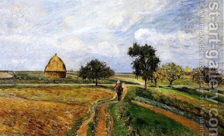 The Old Ennery Road in Pontoise by Camille Pissarro - Reproduction Oil Painting
