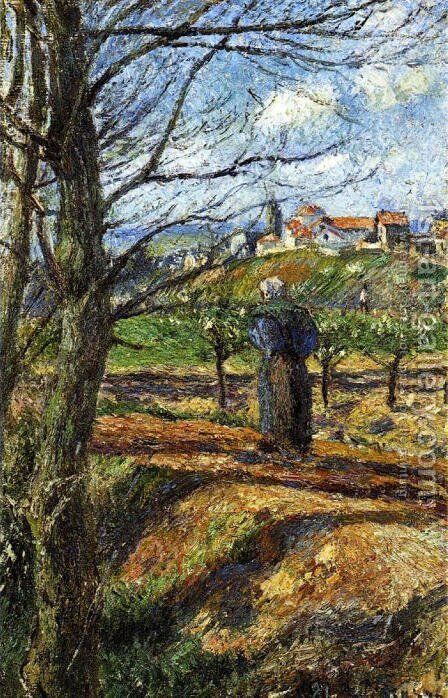 Near Pontoise by Camille Pissarro - Reproduction Oil Painting