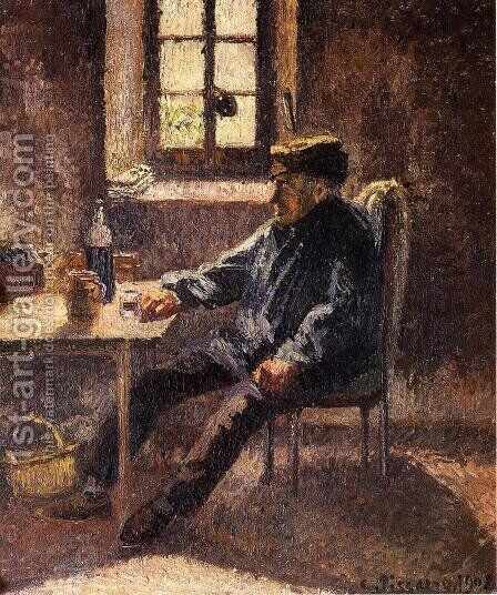 Old Wingrower in Moret by Camille Pissarro - Reproduction Oil Painting