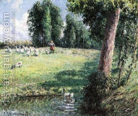 The Goose Girl by Camille Pissarro - Reproduction Oil Painting