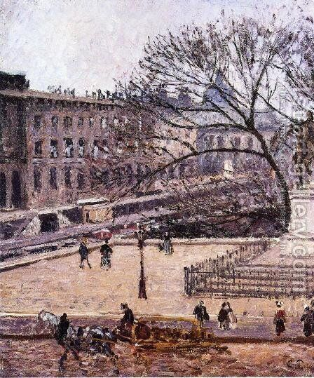 The Treasury and the Academy, Gray Weather by Camille Pissarro - Reproduction Oil Painting