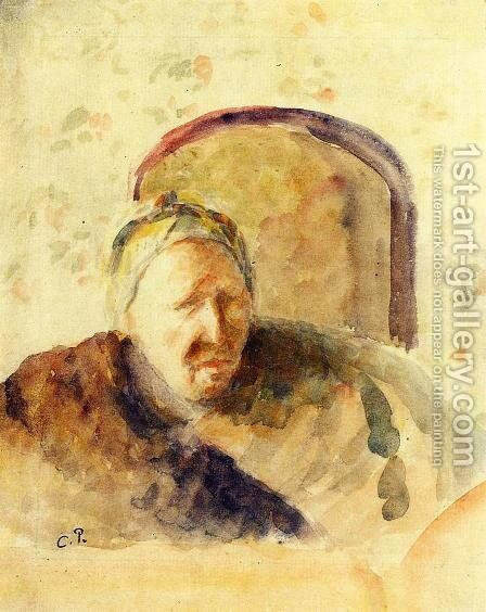 Portrait of the Artist's Mother by Camille Pissarro - Reproduction Oil Painting
