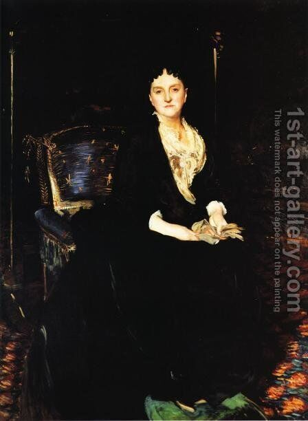 Mrs. William Henry Vanderbilt by Sargent - Reproduction Oil Painting