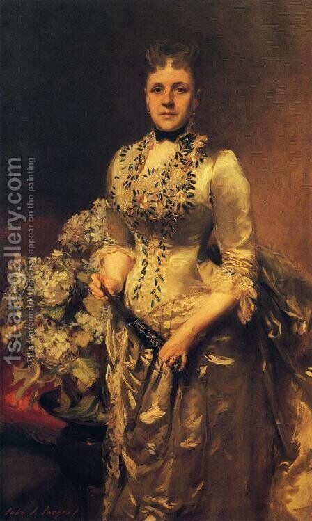 Mrs. Jacob Wandell by Sargent - Reproduction Oil Painting