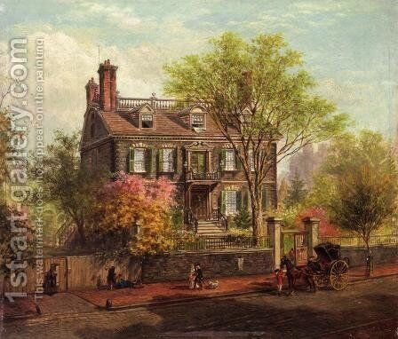 The John Hancock House by Edward Lamson Henry - Reproduction Oil Painting