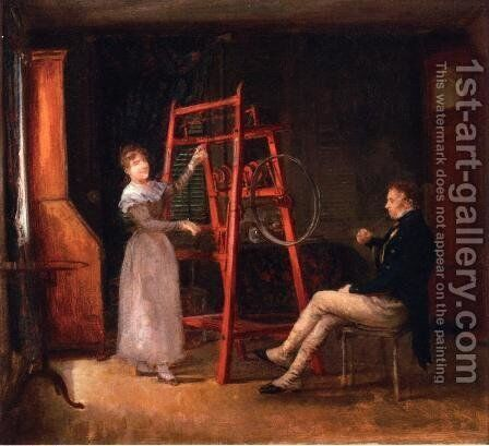 Spinning Jenny by Edward Lamson Henry - Reproduction Oil Painting