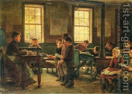 A Country School by Edward Lamson Henry - Reproduction Oil Painting