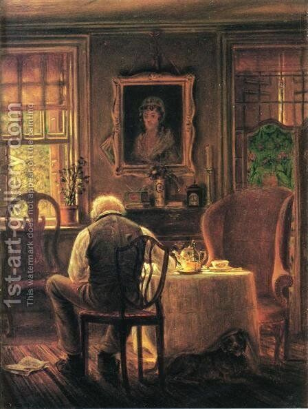 The Widower by Edward Lamson Henry - Reproduction Oil Painting