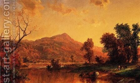 On the Susquehanna by Jasper Francis Cropsey - Reproduction Oil Painting