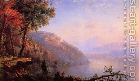 On the Upper Hudson by Marie-Regis-Francois Gignoux - Reproduction Oil Painting