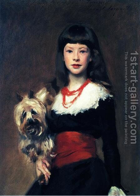 Beatrice Townsend by Sargent - Reproduction Oil Painting