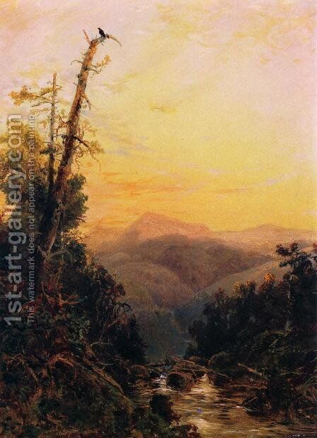 Sunset in the Catskills by Arthur Quartley - Reproduction Oil Painting