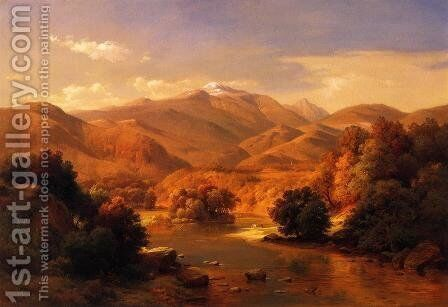 Mount Washington from the Saco by Gottlieb Daniel Paul Weber - Reproduction Oil Painting