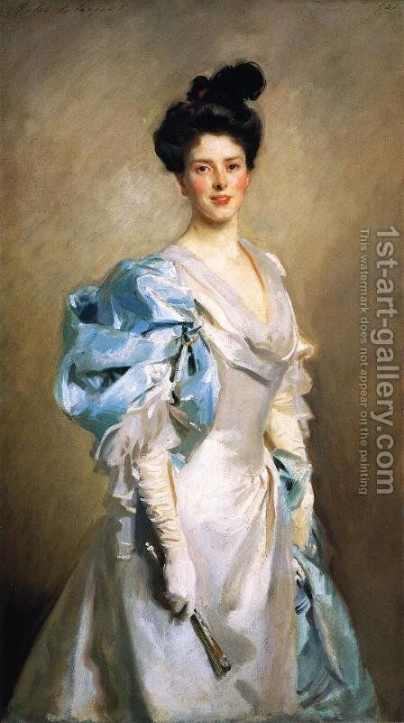 Mrs. Joseph Chamberlain by Sargent - Reproduction Oil Painting