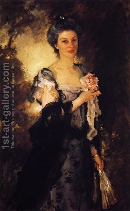 Mrs. William Crowninshield Endicott, Jr by Sargent - Reproduction Oil Painting