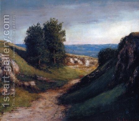 Path to the Sea by Gustave Courbet - Reproduction Oil Painting
