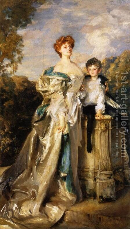The Countess of Warwick and Her Son by Sargent - Reproduction Oil Painting
