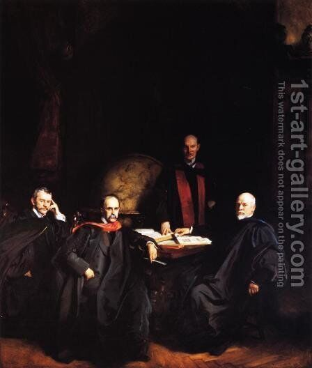 Professors Welch, Halsted, Osler and Kelly by Sargent - Reproduction Oil Painting