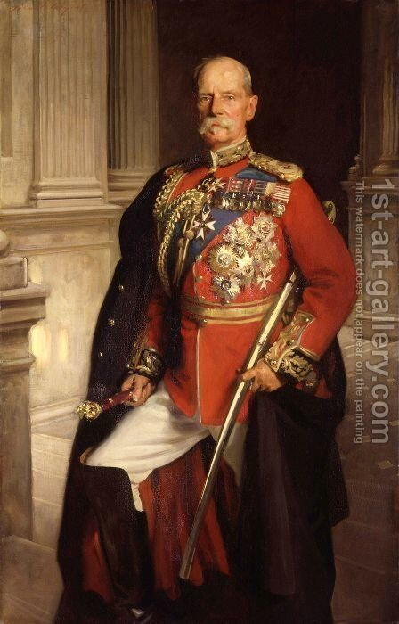 Field Marshal Earl Roberts, K.G., V. C. by Sargent - Reproduction Oil Painting