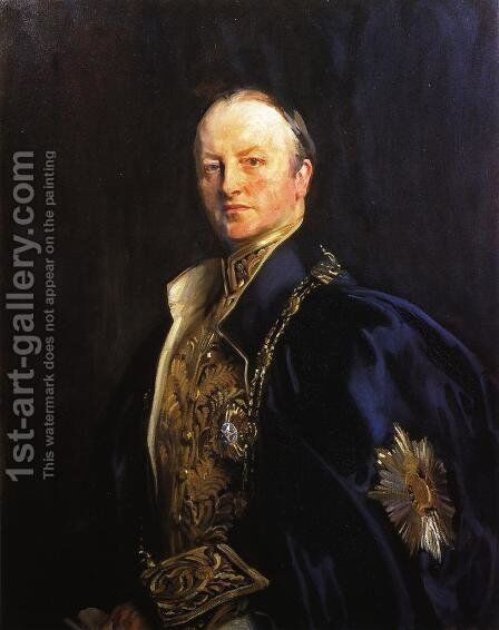 The Right Honourable Earl Curzon of Kedleston (George Nathanial Curzon) by Sargent - Reproduction Oil Painting