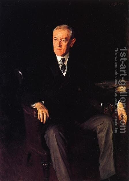 President Woodrow Wilson by Sargent - Reproduction Oil Painting