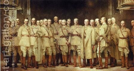 General Officers of World War I by Sargent - Reproduction Oil Painting
