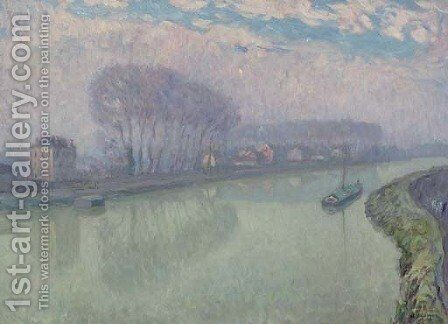The Marne at Pomponne, Morning by Henri Lebasque - Reproduction Oil Painting