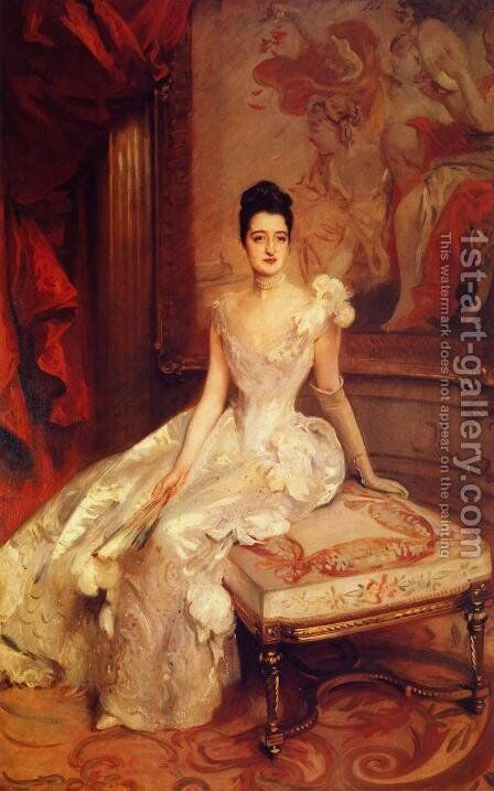Mrs. Hamilton McKown Twombly (Florence Adele Vanderbilt) by Sargent - Reproduction Oil Painting