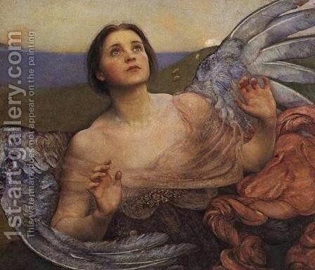 The Sense of Sight by Annie Louise Swynnerton - Reproduction Oil Painting