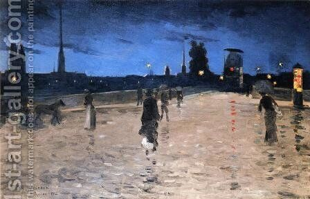 Le Pont de Pierre, Rouen by Charles Angrand - Reproduction Oil Painting