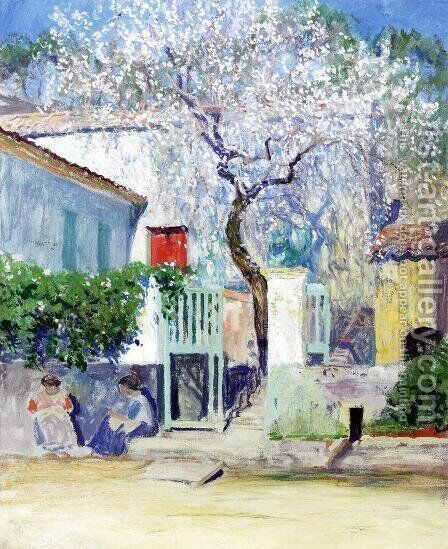 Spring on the Riviera by Guy Rose - Reproduction Oil Painting
