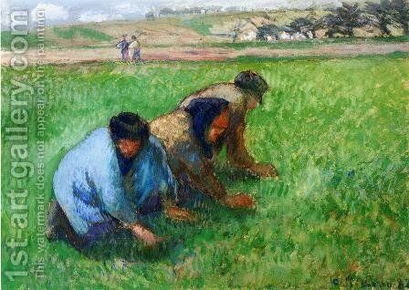 Weeders by Camille Pissarro - Reproduction Oil Painting
