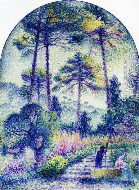 Garden in Provence by Henri Edmond Cross - Reproduction Oil Painting
