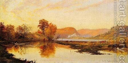 The Lake by Jasper Francis Cropsey - Reproduction Oil Painting