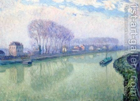The Marne at Ponponne by Henri Lebasque - Reproduction Oil Painting