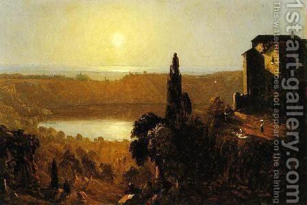 Lake Nemi by Sanford Robinson Gifford - Reproduction Oil Painting