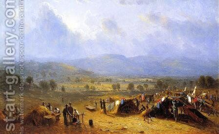 The Camp of the Seventh regiment near Frederick, Maryland by Sanford Robinson Gifford - Reproduction Oil Painting