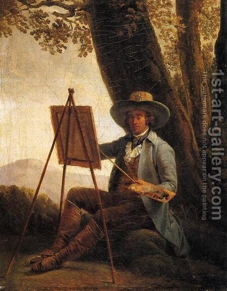 An Artist in the Campagna by Auguste Bouchet - Reproduction Oil Painting