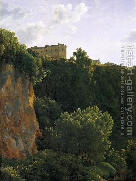 Gorge at Civita Castellana by Jean-Joseph-Xavier Bidauld - Reproduction Oil Painting