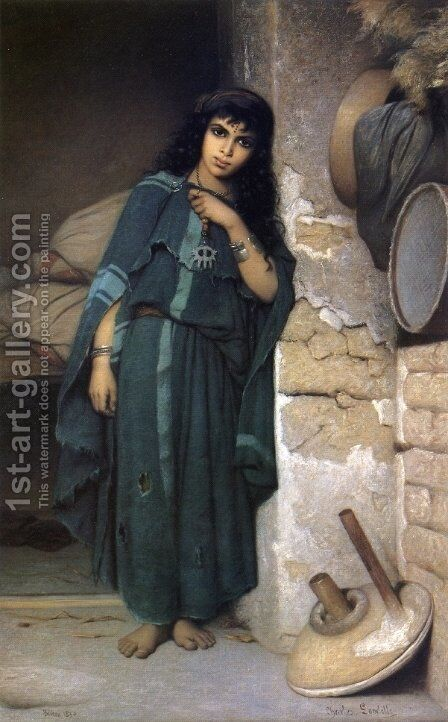 Algerian Girl by Charles Zacharie Landelle - Reproduction Oil Painting
