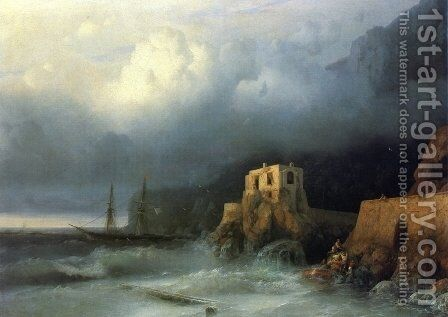 The Rescue I by Ivan Konstantinovich Aivazovsky - Reproduction Oil Painting