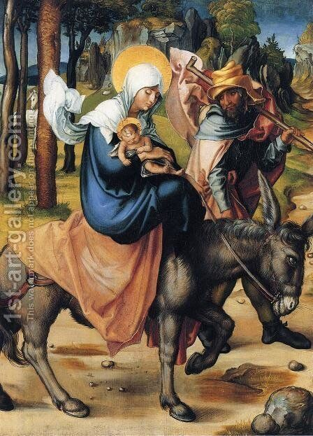 The Flight into Egypt by Albrecht Durer - Reproduction Oil Painting