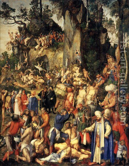 Martyrdom of the Ten Thousand by Albrecht Durer - Reproduction Oil Painting
