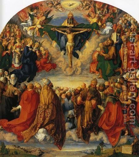 Adoration of the Trinity by Albrecht Durer - Reproduction Oil Painting