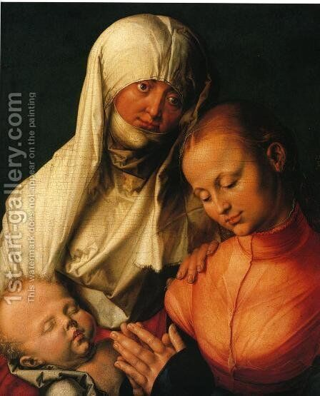 Virgin and Child with St. Anne by Albrecht Durer - Reproduction Oil Painting